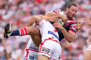 Roosters Cordner Tackled